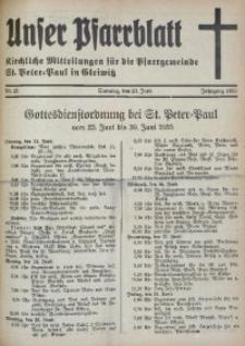 Unser Pfarrblatt, Jg. 1935, Nr. 25