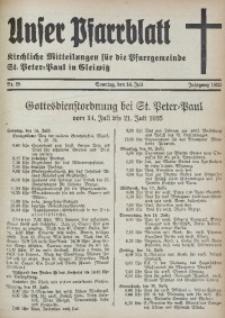 Unser Pfarrblatt, Jg. 1935, Nr. 28
