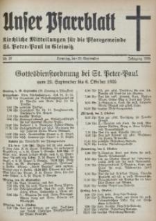 Unser Pfarrblatt, Jg. 1935, Nr. 39