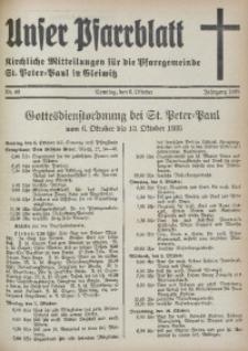 Unser Pfarrblatt, Jg. 1935, Nr. 40