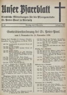 Unser Pfarrblatt, Jg. 1935, Nr. 44
