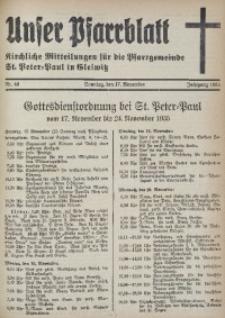 Unser Pfarrblatt, Jg. 1935, Nr. 46