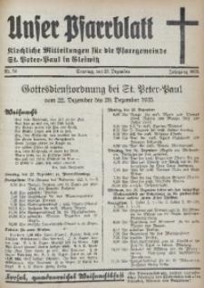 Unser Pfarrblatt, Jg. 1935, Nr. 51