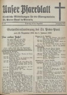 Unser Pfarrblatt, Jg. 1935, Nr. 52