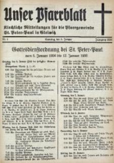 Unser Pfarrblatt, Jg. 1936, Nr. 1