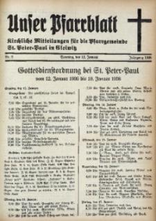 Unser Pfarrblatt, Jg. 1936, Nr. 2