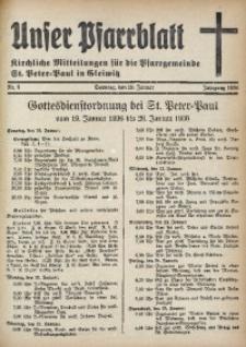 Unser Pfarrblatt, Jg. 1936, Nr. 3