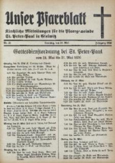 Unser Pfarrblatt, Jg. 1936, Nr. 21