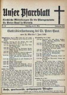 Unser Pfarrblatt, Jg. 1936, Nr. 22