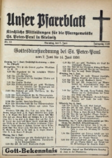 Unser Pfarrblatt, Jg. 1936, Nr. 23