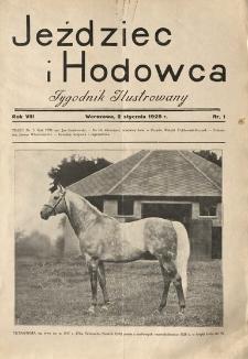 Jeździec i Hodowca, R. 8 (1929), Nry 1-14