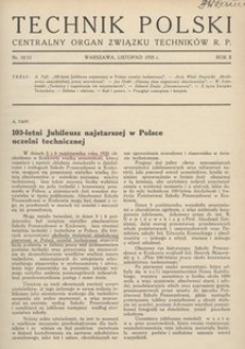 Technik Polski, 1935, R. 2, nr 10/11