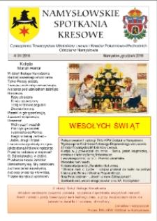 Namysłowskie Spotkania Kresowe 2018, nr 4 (31).