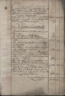 Computus Sacromontanus, pro Anno 1733 super pecunia ex cassa Abbatiae Gradicensis et ibidem varie accepta et exposita