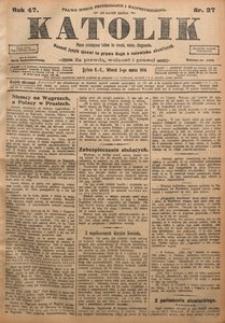 Katolik, 1914, R. 47, nr 27
