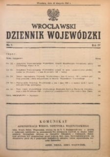 Wrocławski Dziennik Wojewódzki, 1948, R. 4, nr 7