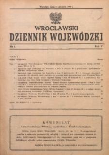 Wrocławski Dziennik Wojewódzki, 1949, R. 5, nr 1