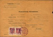 Poświadczenie obywatelstwa 1949 r.
