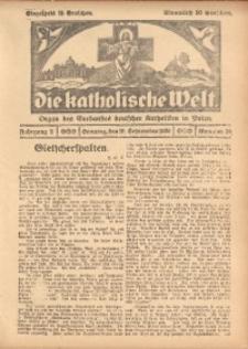 Die Katholische Welt, 1926, Jg. 2, Nr. 38