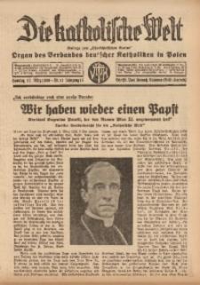 Die Katholische Welt, 1939, Jg. 15, Nr. 11