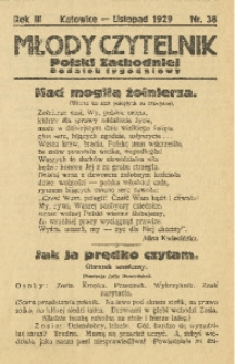 Młody Czytelnik Polski Zachodniej, 1929, R. 3, nr 38