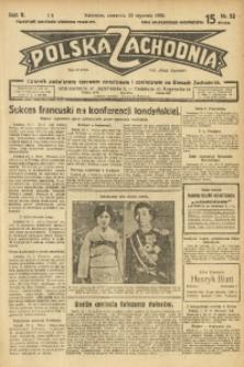 Polska Zachodnia, 1930, R. 5, nr 22