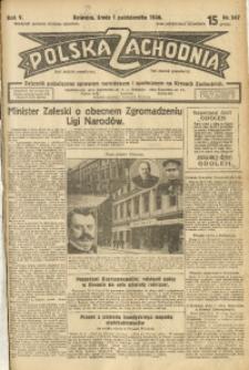 Polska Zachodnia, 1930, R. 5, nr 247