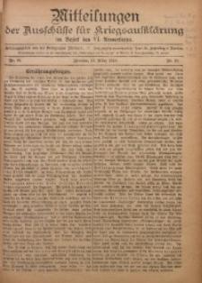 Mitteilungen der Ausschüsse für Kriegsaufklärung im Bezirk der VI. Armeekorps, 1917/1918, Jg. 1, Nr. 10