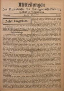 Mitteilungen der Ausschüsse für Kriegsaufklärung im Bezirk der VI. Armeekorps, 1918/1919, Jg. 2, Nr. 20