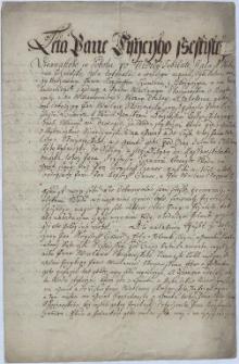 Odpis umowy między Krzysztofem Tschammerem z Iskrzyczyna, panem Harbutowic, a Wacławem Skoczowskim z Kojkowic, właścicielem Wilamowic z 19.05.1612 w spornej sprawie korzystania z wody rzeki Wisły