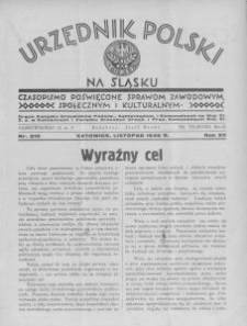 Urzędnik Polski na Śląsku, 1936, R. 12, nr 219
