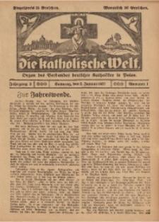 Die Katholische Welt, 1927, Jg. 3, Nr. 1