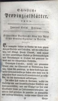 Schlesische Provinzialblätter, 1801, 33. Bd., 2. St.: Februar