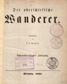 Der Oberschlesische Wanderer, 1865, Jg. 38, No. 1