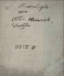 Mineralogie / von Albin Heinrich geschrieben 1822