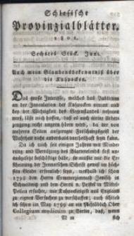Schlesische Provinzialblätter, 1801, 33. Bd., 6. St.: Juni