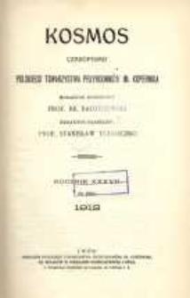 Kosmos, 1912, R. 37, Treść rocznika