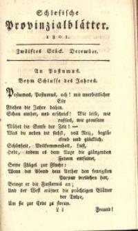 Schlesische Provinzialblätter, 1801, 34. Bd., 12. St.: December