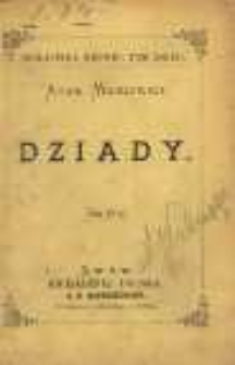 Dziady / Adam Mickiewicz. – Lwów : Księgarnia Polska A. D. Bartoszewicza