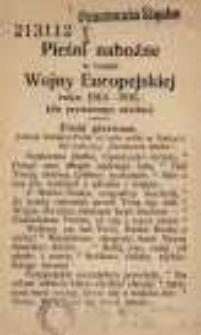 Pieśni nabożne w czasie Wojny Europejskiej roku 1914-1915. (Do prywatnego użytku)