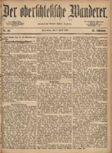 Der Oberschlesische Wanderer, 1872, Jg. 45, Nr. 40