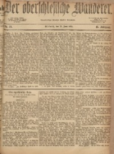 Der Oberschlesische Wanderer, 1872, Jg. 45, Nr. 71