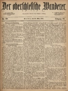 Der Oberschlesische Wanderer, 1879, Jg. 51, Nr. 38