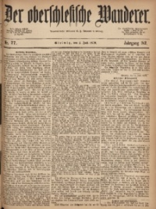 Der Oberschlesische Wanderer, 1879, Jg. 52, Nr. 77