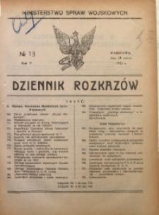 Dziennik Rozkazów, 1922, R. 5, nr 13