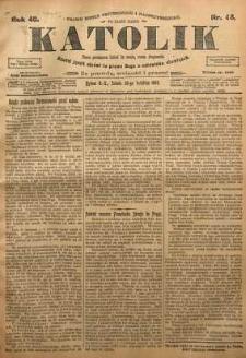 Katolik, 1907, R. 40, nr 48