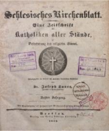 Schlesisches Kirchenblatt, 1842, Jg. 8, Inhalts-Verzeichniss