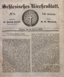 Schlesisches Kirchenblatt, 1842, Jg. 8, Nr. 8