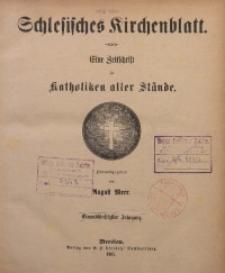 Schlesisches Kirchenblatt, 1885, Jg. 51, Nr. Inhalts-Verzeichniss