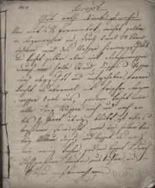 Notatnik Michała Waleczka, urzędnika Komory Cieszyńskiej, z lat 1804-1817